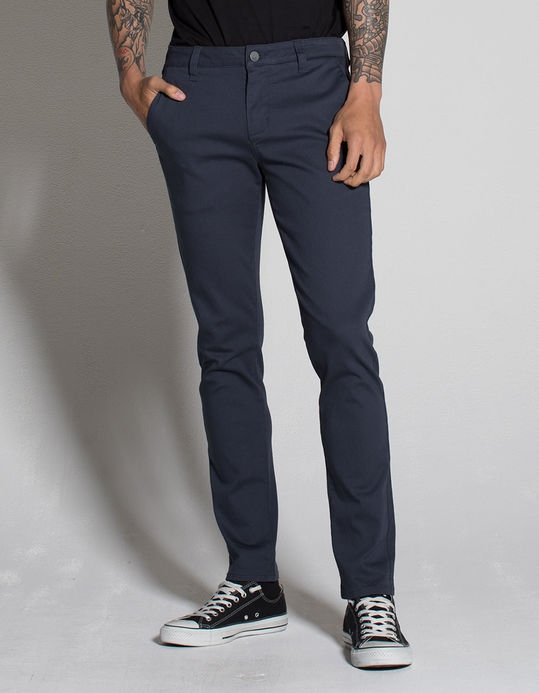 RSQ London Mens Skinny Stretch Chino Pants - Image 2
