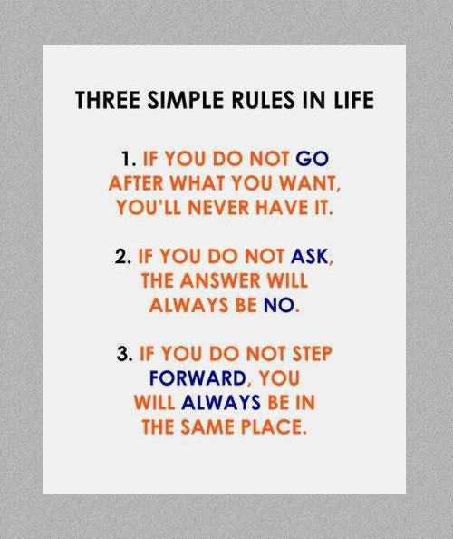 Rules In Life: a short list