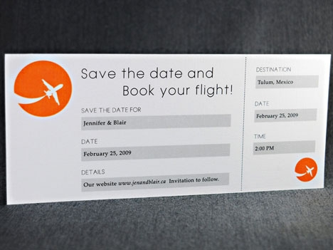Save the date for destination wedding