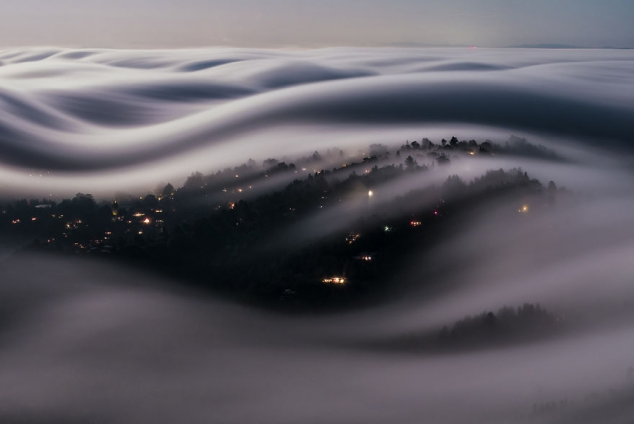 Sea of California fog (picture)