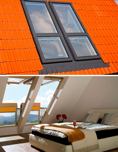 Skylight decks windows that open into balconies for Open balcony in a theatre