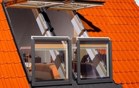 Skylight Decks Windows That Open Into Balconies