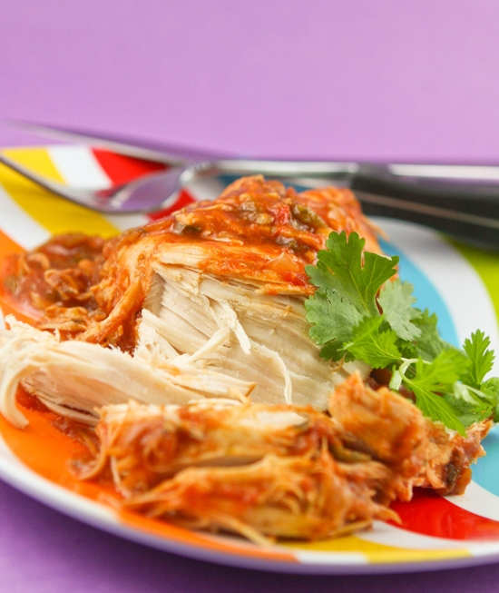 Slow Cooker Cilantro Lime Chicken - FaveThing.com