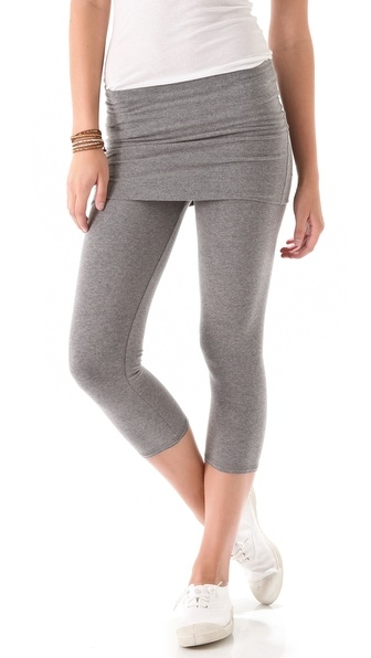 So Low Fold Over Cropped Leggings