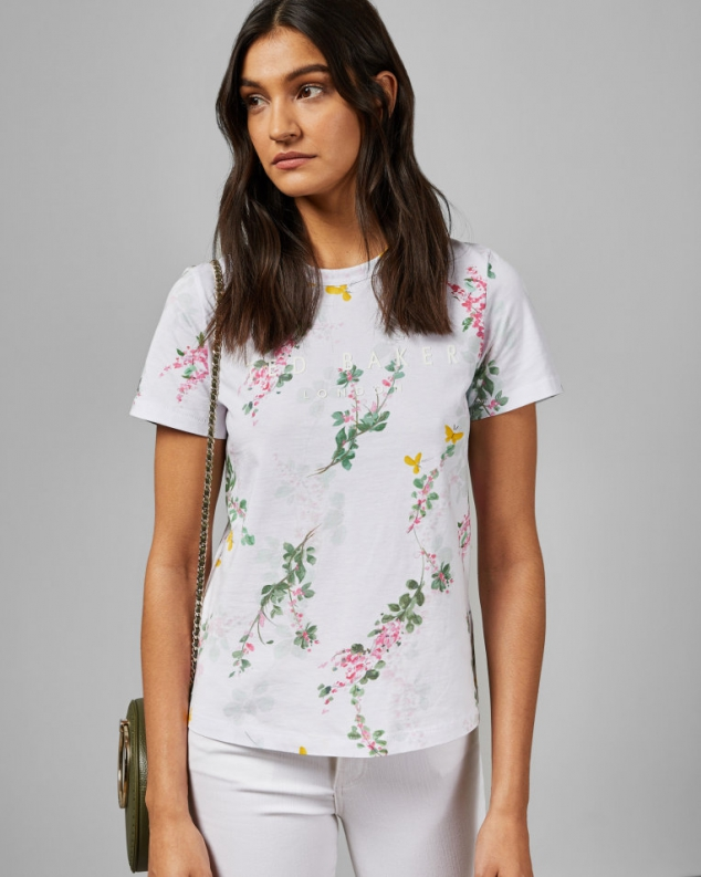 Sorbet Printed Cotton T-shirt