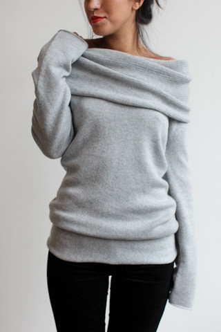 Souchi Claudia Cashmere Cowl Neck Sweater - FaveThing.com