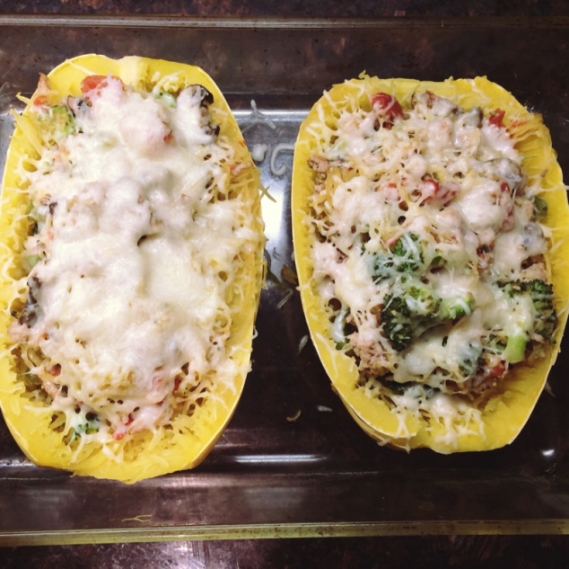 Spaghetti Squash Boats: Healthy Low Carb Recipe