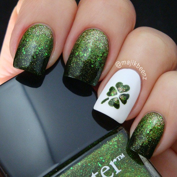 St Patrck's Day Nail Design