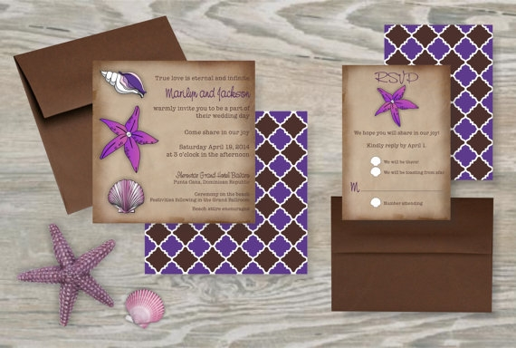 Starfish wedding invitations favethingcom for Electronic destination wedding invitations