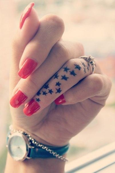 Star Tattoo On Finger