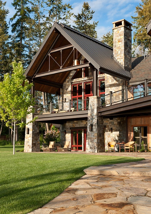 Stone Timber Frame Home
