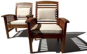 Strathwood Gibranta All-Weather Hardwood Arm Chairs - Image 2