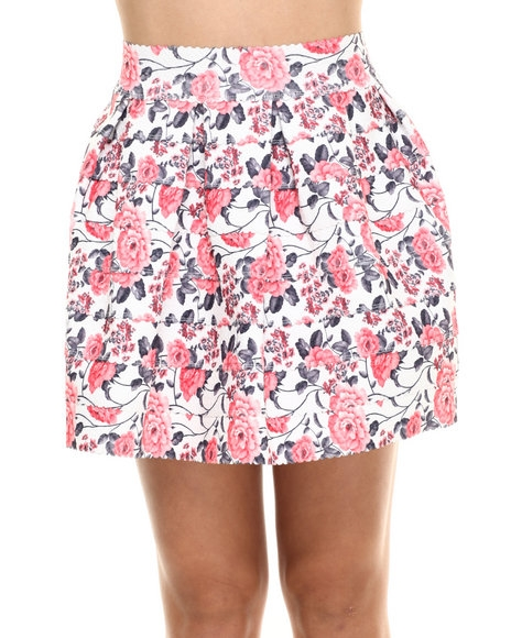 Stretch Cupcake Floral Skirt by Freestyle