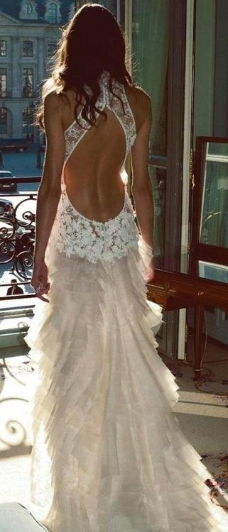 Stunning low back wedding dress