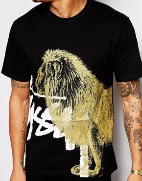 Stussy T-Shirt with Lion Print - Image 2