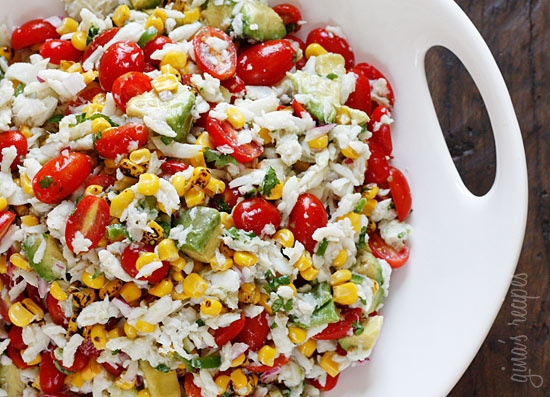 Summer Tomatoes, Corn, Crab and Avocado Salad in Food & Drink