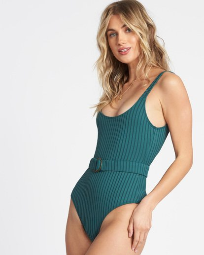 Suns Out Rib One Piece Swim Suit - Image 2