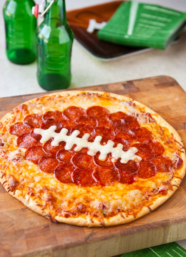 Superbowl food: Football Pepperoni Pizza in Food & Drink