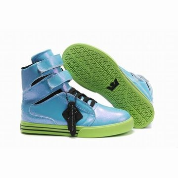 Supra TK Society High Tops Blue/Lime Green Women's