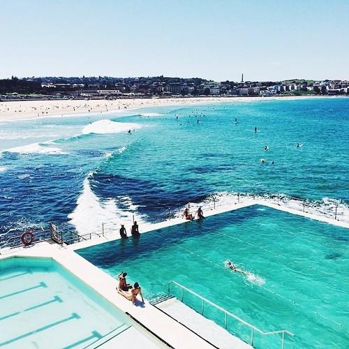 Swim At Bondi Icebergs Pool In Sydney Australia