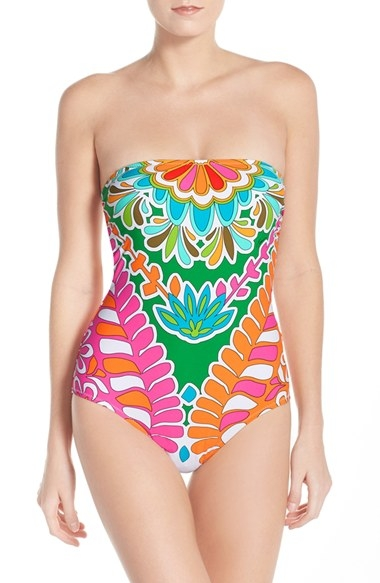 'Tamarindo' Convertible Bandeau-One Piece Swimsuit by Trina Turk