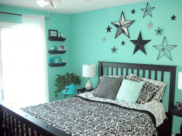 Black and Teal Girl Bedroom Ideas 634 x 476