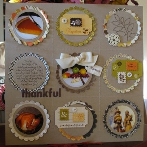 Thanksgiving scrapbooking ideas