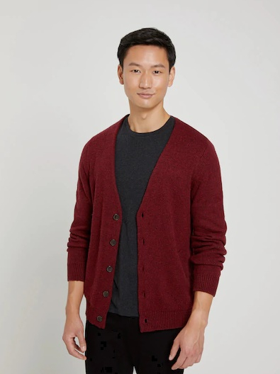 The Donegal Cardigan in Scarlet Sage - Image 2
