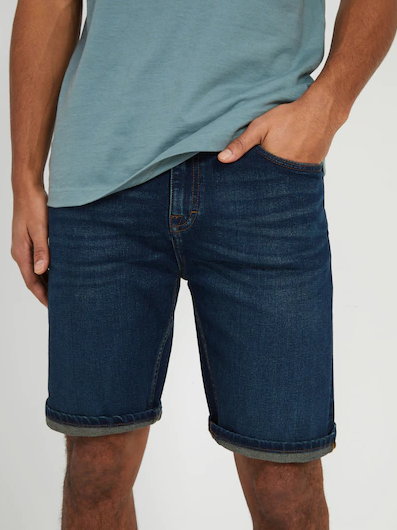 The Dylan Stretch Jean Shorts in Vintage Blue - Image 2