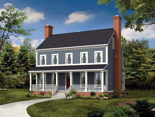 Three bedroom country house plan for 3 bedroom country home plans
