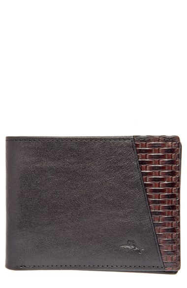 Tommy Bahama 'Basketweave' Leather Wallet