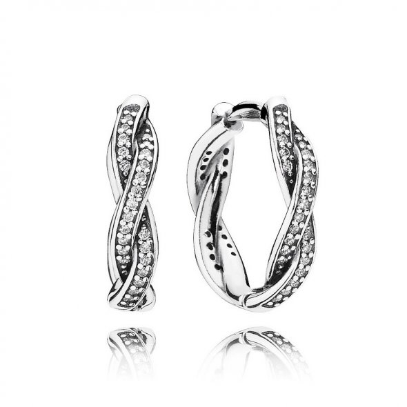 Pandora Twist Of Faith Earrings