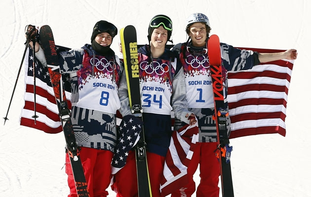 USA sweeps men's ski slopestyle medals at Sochi ...