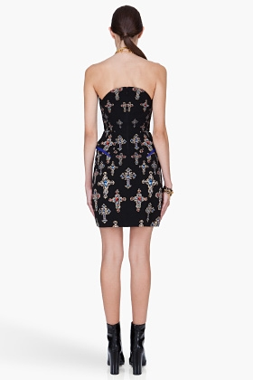 Versace Black Silk Cocktail Dress - Image 2