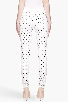 White and Black Polka Dot Skinny Jean - Image 2