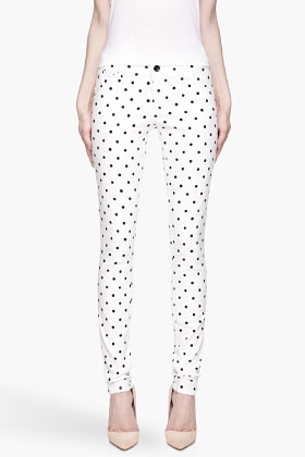 White and Black Polka Dot Skinny Jean