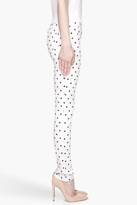 White and Black Polka Dot Skinny Jean - Image 3