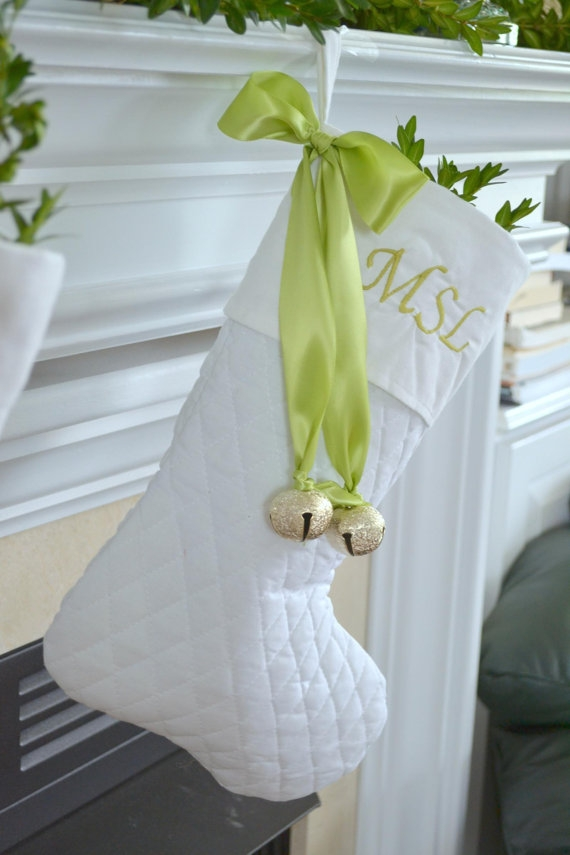 White Christmas stocking - FaveThing.com