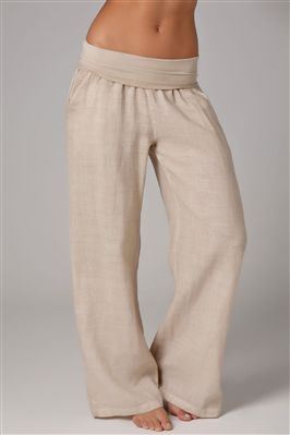 Wide-leg pant with rollover waistband - FaveThing.com