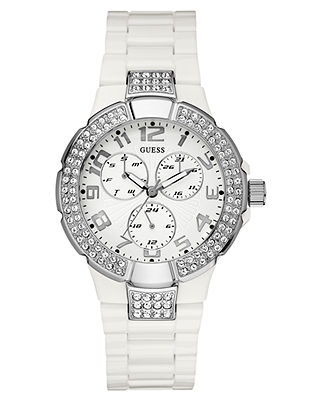 Womens white Guess watch