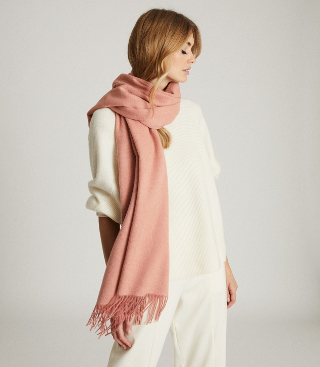 Wool Cashmere Blend Oversized Scarf