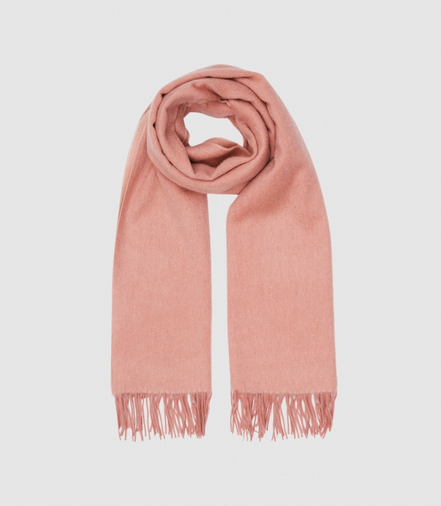 Wool Cashmere Blend Oversized Scarf - Image 2