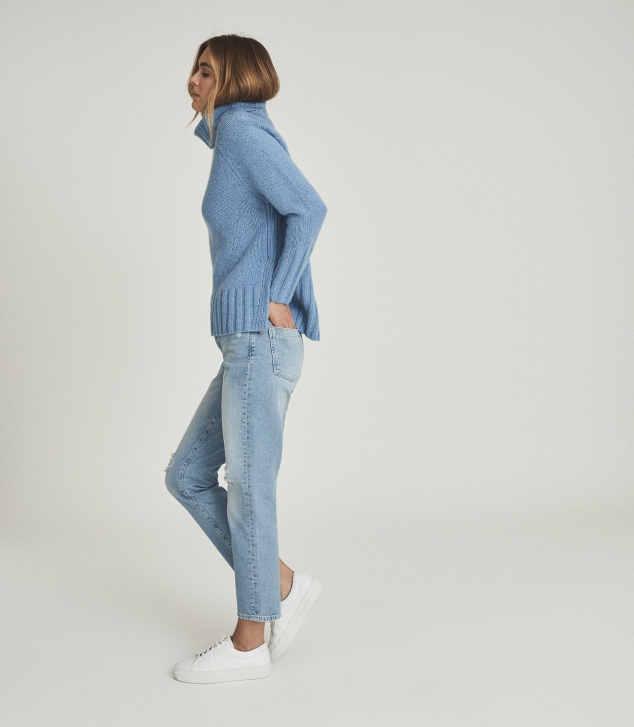 Wool Cashmere Blend Roll Neck Sweater - Image 3