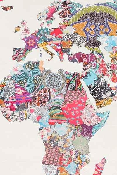 World Map Duvet Cover from Urban Outfitters - Image 3