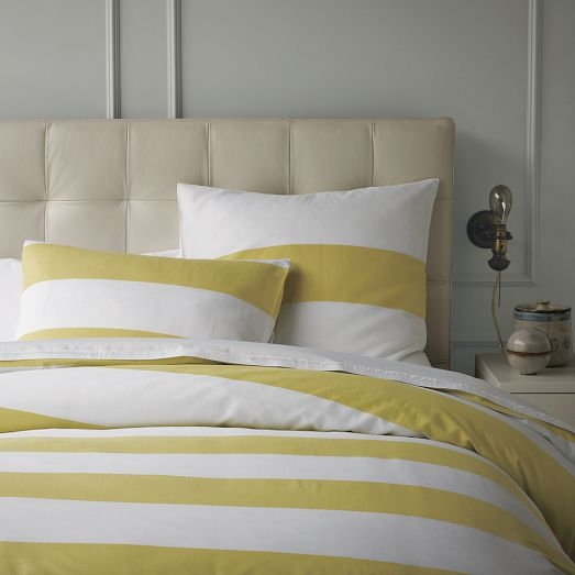 Yellow & White striped duvet