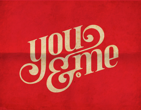 You Me Graphic With Great Typography For A Tattoo