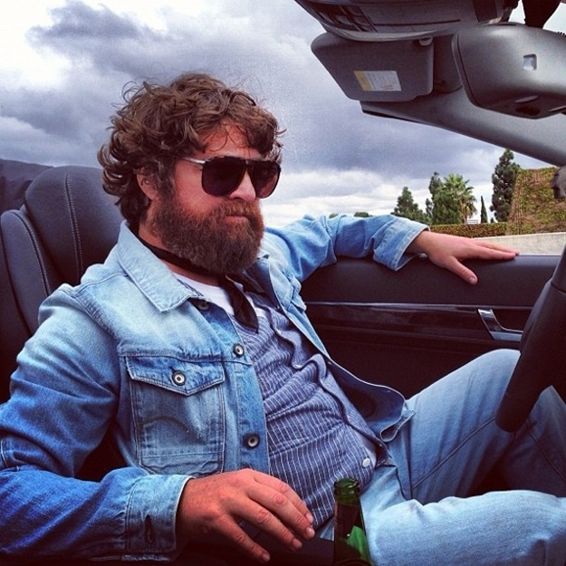 Zach Galifianakis filming the Hangover 3