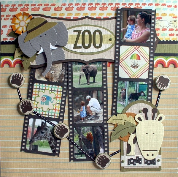 Zoo scrapbook layout