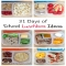 31 Days of School Lunches - Healthy Lunches