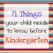 71 Things Your Child Needs to Know Before Kindergarten - Educational Ideas